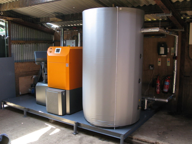 System Kurri 60kW chip boiler installed  for biomass heating at Park Farm, Blenheim Palace